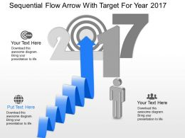 ql Sequential Flow Arrow With Target For Year 2017 Powerpoint Template