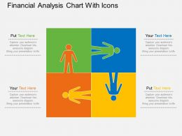 Qm Financial Analysis Chart With Icons Flat Powerpoint Design