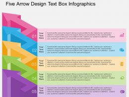 Qn Five Arrow Design Text Box Infographics Flat Powerpoint Design