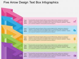 Qn Five Arrow Design Text Box Infographics Flat Powerpoint Design