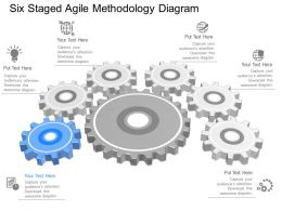 qn Six Staged Agile Methodology Diagram Powerpoint Template