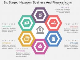 Qn Six Staged Hexagon Business And Finance Icons Flat Powerpoint Design