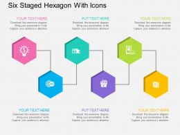 Qo Six Staged Hexagon With Icons Flat Powerpoint Design