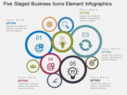Qq Five Staged Business Icons Element Infographics Flat Powerpoint Design