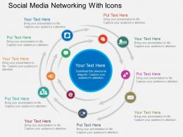 Qq Social Media Networking With Icons Flat Powerpoint Design