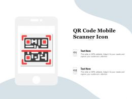 QR Code Mobile Scanner Icon