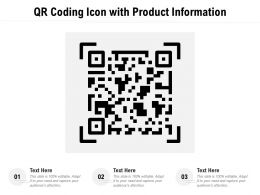 QR Coding Icon With Product Information