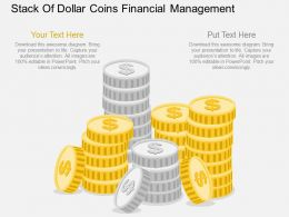 Qr Stack Of Dollar Coins Financial Management Flat Powerpoint Design