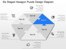 qs Six Staged Hexagon Puzzle Design Diagram Powerpoint Template