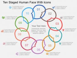 Qs Ten Staged Human Face With Icons Flat Powerpoint Design