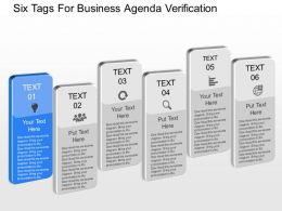 qt Six Tags For Business Agenda Verification Powerpoint Template