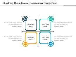 Quadrant Circle Matrix Presentation Powerpoint