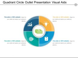Quadrant Circle Outlet Presentation Visual Aids