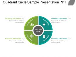 Quadrant Circle Sample Presentation Ppt