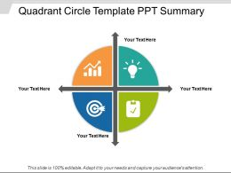 Quadrant Circle Template Ppt Summary