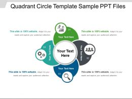 Quadrant Circle Template Sample PPT Files