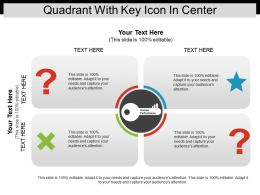 Quadrant With Key Icon In Center