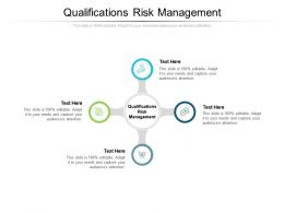 Qualifications Risk Management Ppt Powerpoint Presentation Infographic Template Summary Cpb