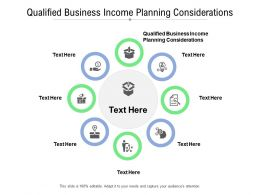 Qualified Business Income Planning Considerations Ppt Portfolio Inspiration Cpb