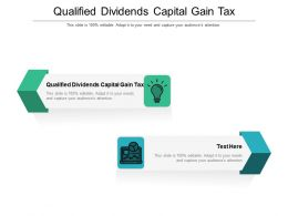 Qualified Dividends Capital Gain Tax Ppt Powerpoint Presentation Slides Professional Cpb