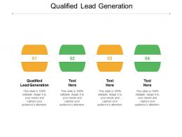 Qualified Lead Generation Ppt Powerpoint Presentation File Slide Cpb