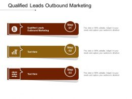 Qualified Leads Outbound Marketing Ppt Powerpoint Presentation Pictures Information Cpb