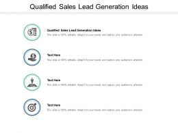 Qualified Sales Lead Generation Ideas Ppt Powerpoint Presentation Show Graphics Tutorials Cpb