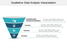 Qualitative Data Analysis Interpretation Ppt Powerpoint Presentation Design Ideas Cpb