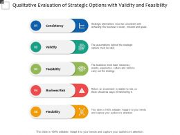Qualitative Evaluation Of Strategic Options With Validity And Feasibility