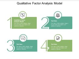 Qualitative Factor Analysis Model Ppt Powerpoint Presentation Model Master Slide Cpb