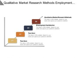 Qualitative Market Research Methods Employment Satisfaction Marketing Strategies