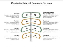 Qualitative Market Research Services Ppt Powerpoint Presentation Styles Backgrounds Cpb