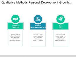 Qualitative Methods Personal Development Growth Interpersonal Negotiation Skills Cpb