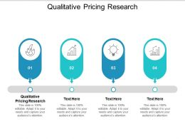 Qualitative Pricing Research Ppt Powerpoint Presentation Slides Maker Cpb