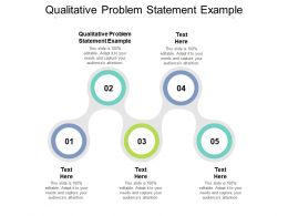 Qualitative Problem Statement Example Ppt Powerpoint Presentation Pictures Visual Aids Cpb