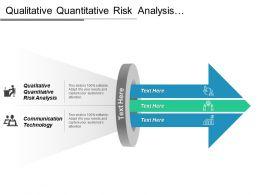 Qualitative Quantitative Risk Analysis Communication Technology Quantitative Methods Cpb