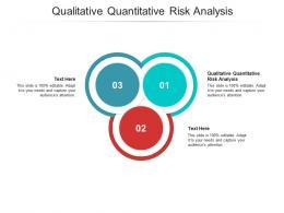 Qualitative Quantitative Risk Analysis Ppt Powerpoint Presentation Templates Cpb