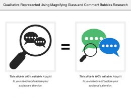 Qualitative Represented Using Magnifying Glass And Comment Bubbles Research