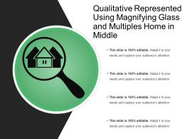 Qualitative Represented Using Magnifying Glass And Multiples Home In Middle