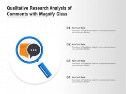 Qualitative Research Analysis Of Comments With Magnify Glass