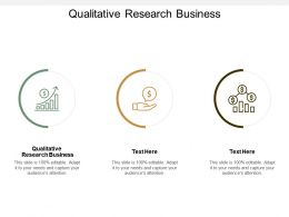 Qualitative Research Business Ppt Powerpoint Presentation Ideas Files Cpb