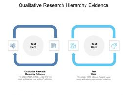 Qualitative Research Hierarchy Evidence Ppt Powerpoint Presentation Model Cpb