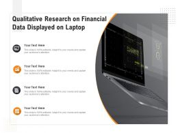 Qualitative Research On Financial Data Displayed On Laptop