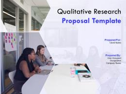Qualitative Research Proposal Template Powerpoint Presentation Slides