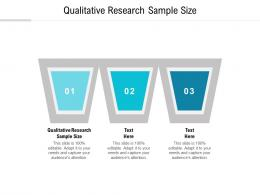 Qualitative Research Sample Size Ppt Powerpoint Presentation Professional Layout Ideas Cpb