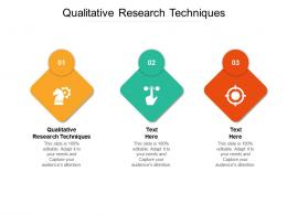 Qualitative Research Techniques Ppt Powerpoint Presentation Professional Display Cpb