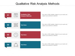 Qualitative Risk Analysis Methods Ppt Powerpoint Presentation Ideas Examples Cpb