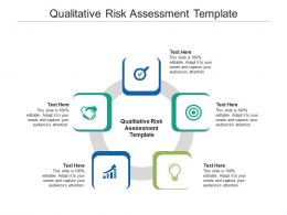 Qualitative Risk Assessment Template Ppt Powerpoint Presentation Infographics Show Cpb