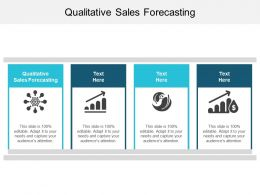 Qualitative Sales Forecasting Ppt Powerpoint Presentation Styles Backgrounds Cpb
