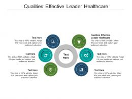 Qualities Effective Leader Healthcare Ppt Powerpoint Presentation Styles Visuals Cpb